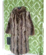 Vintage Schlamps Minneapolis Raccoon Fur Long Coat Size 10 Small Med Exc... - $280.00
