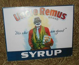 Vintage Uncle Remus Brand Syrup advertisement poster print 1980s unframed - $9.99
