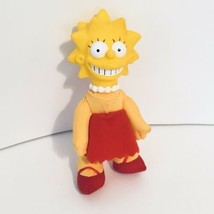 1990 Vintage Lisa Simpson Rubber Head Cloth Body 8in Doll Plush Tv Show - $14.06