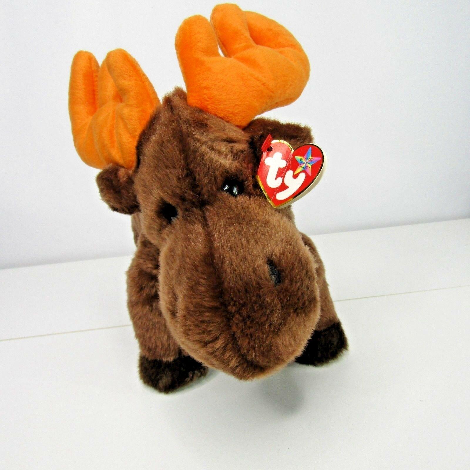8b43fa69c73 Ty Beanie Buddies Chocolate Moose Plush 12