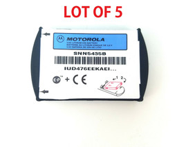 5x New OEM Original Motorola Battery SNN5435B For Motorola T280i - LOT OF 5 - $12.86