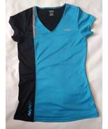 Women's Reebok blue/black/gray short sleeve athletic top size S - $8.59