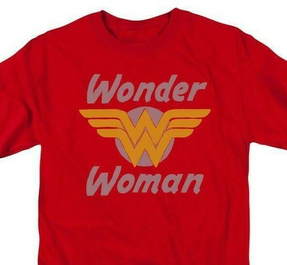 Wonder Woman 70s Logo T-shirt retro DC comic Superman superhero DCO732