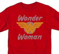 Wonder Woman 70s Logo T-shirt retro DC comic Superman superhero DCO732 image 1