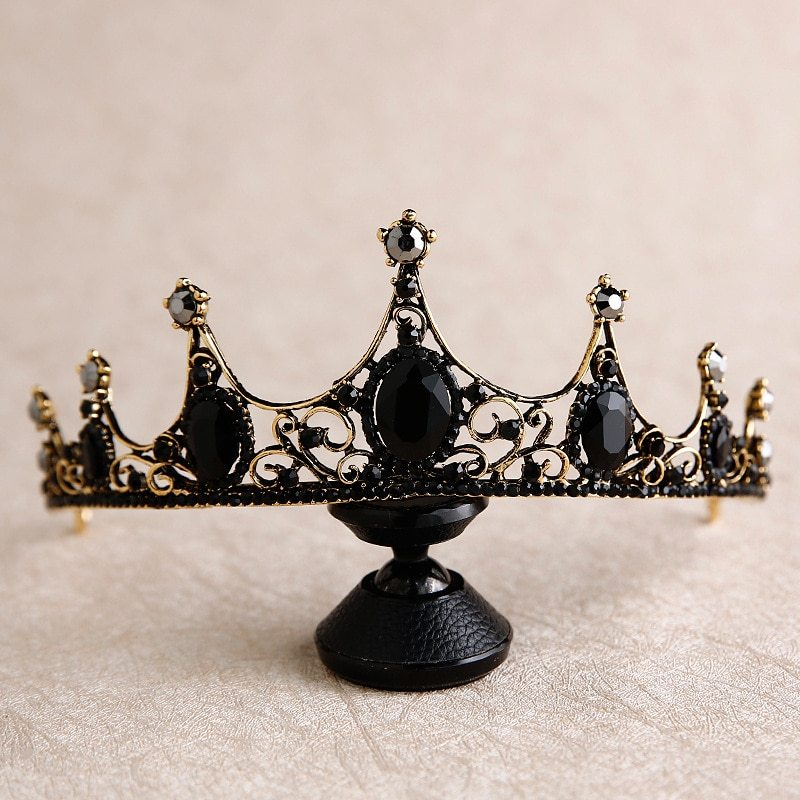 New Baroque Retro Black Crown Bride Headdress Wedding tiara bridesmaid flower gi