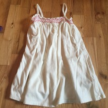 GIRLS SIZE 2T Old Navy Beige Cotton Dress or 5T Top with Pink Stitching ❤️ - $8.54