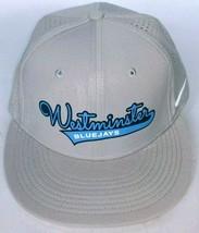 Westminster College Blue Jays Men's Gray Baseball Hat Stretch Fit M/L - $26.27