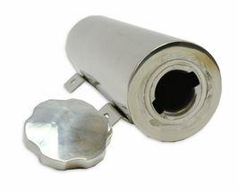 "3""x9"" Stainless Radiator Coolant Overflow Reservoir Tank w/ Twist Cap Univ. image 5"
