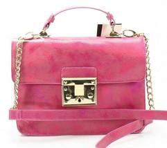 Steve Madden NWT $88 Fuchsia Pink Crossbody Hand Bag Nessa Iridescent Cl... - $31.67