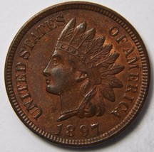 1897 One Cent Indian Head Penny Coin Lot# MZ 4513