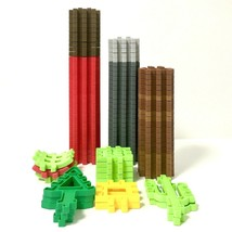 Little Tikes Waffle Blocks Lot of 96 Wee Construction Building Pieces and Trees - $48.02