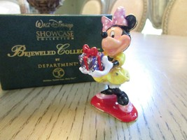"DEPT 56 DISNEY MERRY CHRISTMAS MINNIE BEJEWELED COLLECTION 3.5"" HINGED T... - $22.72"