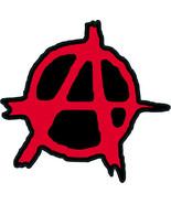 Anarchy punk shaped vinyl sticker 99x95mm Crass Conflict Sex Pistols cla... - $3.13