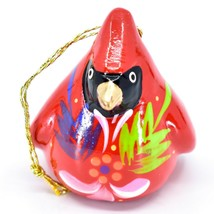 Handcrafted Painted Ceramic Red Cardinal Confetti Ornament Made in Peru image 2