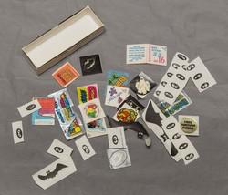 Vintage Lot of Cracker Jacks Superheroes Stick-Ons Prizes etc g25 - $34.64