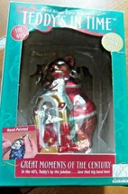Hand Blown Teddy Bear Ornament Teddys Jukebox - $23.38