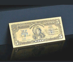 a☆AMAZING DETAIL☆ 《1899 SILVER CERTIFICATE》 INDIAN CHIEF  $5 Rep.*Bankno... - $13.33