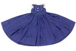 VOGUE JILL DOLL'S labeled, 1957  NAVY BLUE DRESS # 7405 - $23.76