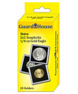 Guardhouse Tetra Snaplock Coin Holders, 1/4 oz AGE, 2x2, 10 pack - $6.68
