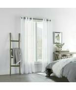 (1) NEW Linden Street Brooke WHITE Sheer Grommet Curtain 50x84 JCPENNEY ... - $68.59