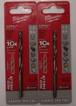 "Milwaukee 48-89-2310 13/64"" Cobalt RED HELIX Drill Bits 2pcs. - $6.44"