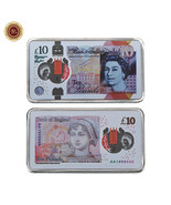 WR England 2017 New 10 Pound Note Printed Silver Clad Bar Great Britain ... - $4.48