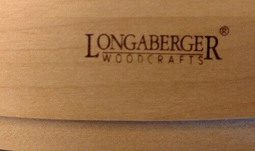 Longaberger 1998 SIGNED BOX WITH MAPLE TOP FOR STORING CARDS