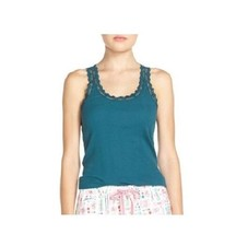Jane and Bleecker Sleep Tank with Lace in Sea Green, XS - $13.85