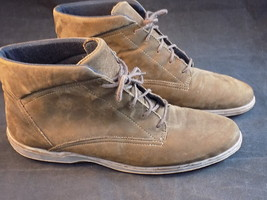 Women's Lace Up Ankle Boots Brown Suade Easy Spirit Size 8.5 2A/4A 6476 - $14.84