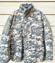 USGI COAT COLD WEATHER FIELD ACU DIGITAL M-65 JACKET WITH LINER - LARGE ... - $133.65