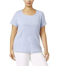 Karen Scott  3X Womens Heathered Scoop Neck Casual Top Shirt Plus NEW - $17.82
