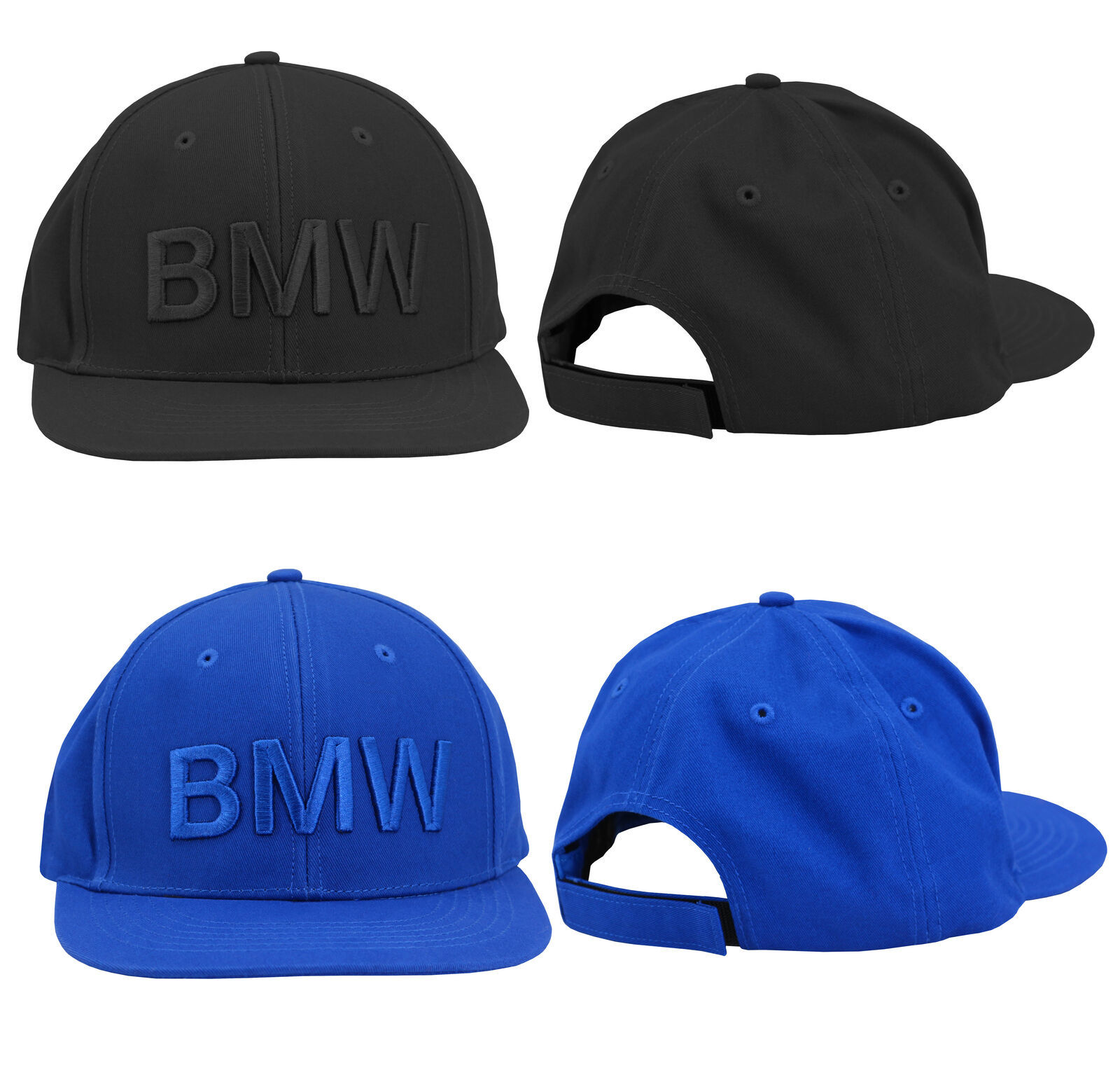 BMW Men's Sport Embroidered Baseball Hat Solid Cotton Strapback Cap BN8A016
