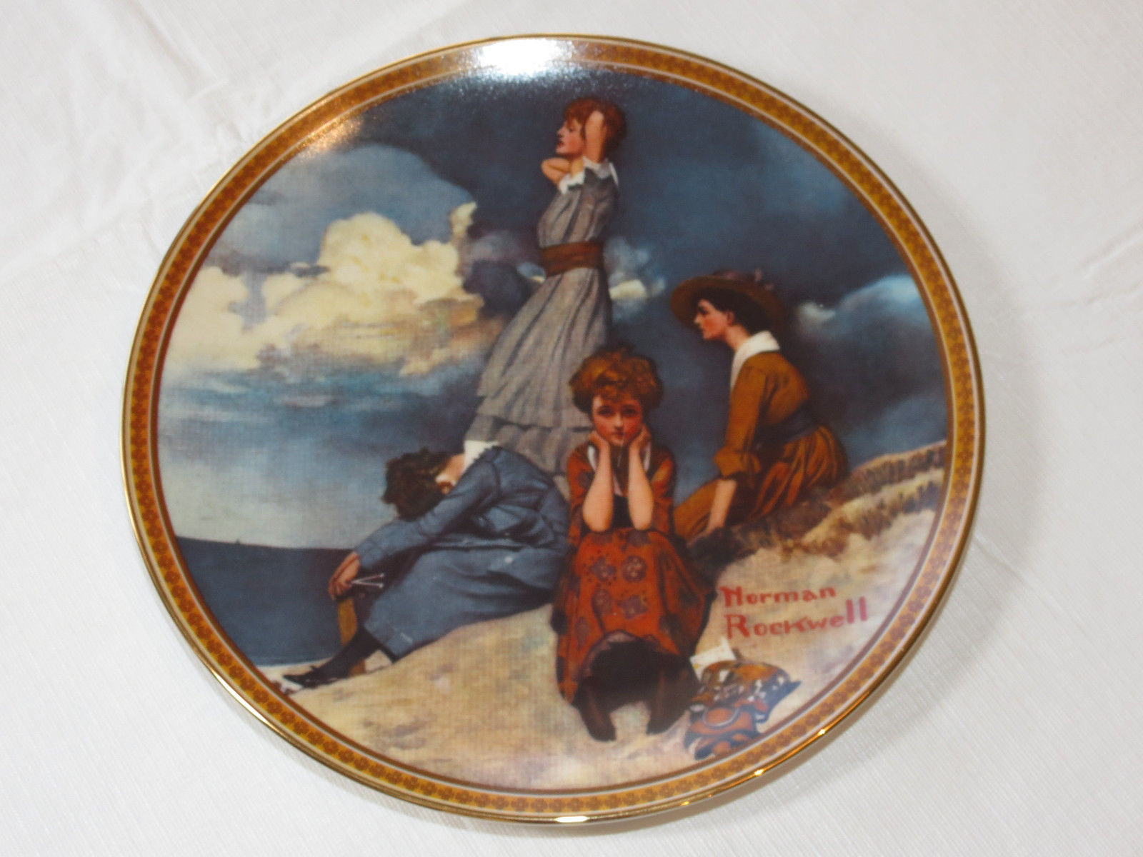 Primary image for Norman Rockwell's Waiting on the Shore 17800 0 collector plate Knowles China ~