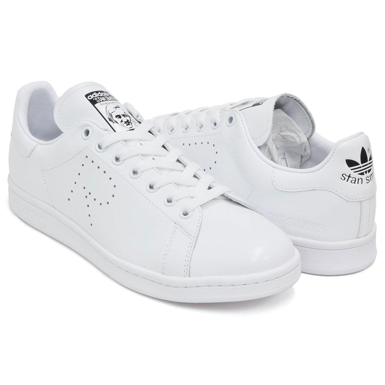new arrival 9895f 38eda ... Adidas Mens Raf Simons Stan Smith WhiteBlack S81167 ...