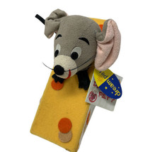 Collectable Dakin Dream Pet Roquefort Grey Mouse & Cheese Felt Animal Toy - $12.50