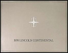 1976 Lincoln Continental ORIGINAL Color Brochure 76  - $18.51