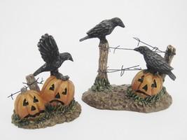 Dept 56 Halloween Village Ravens on Fence w Jack-o-lanterns 4030786 Mint... - $24.74