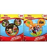 Disney Mickey - 24 Shaped Puzzle - (Set of 2) - $14.84