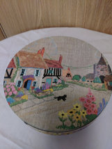 """Vintage Colorful """"Biscuit Tin"""" Made in England  image 6"""