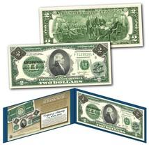 1862 Alexander HAMILTON Civil War Treasury Two-Dollar Banknote on UNC Ne... - $13.98