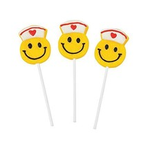 Smile Face Nurse Suckers Set if 12 Individually Wrapped Lollipops Get Well and N