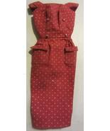 Vintage Barbie Fashion Pak Polka Dot Sheath Dress Red/Rust - $37.95