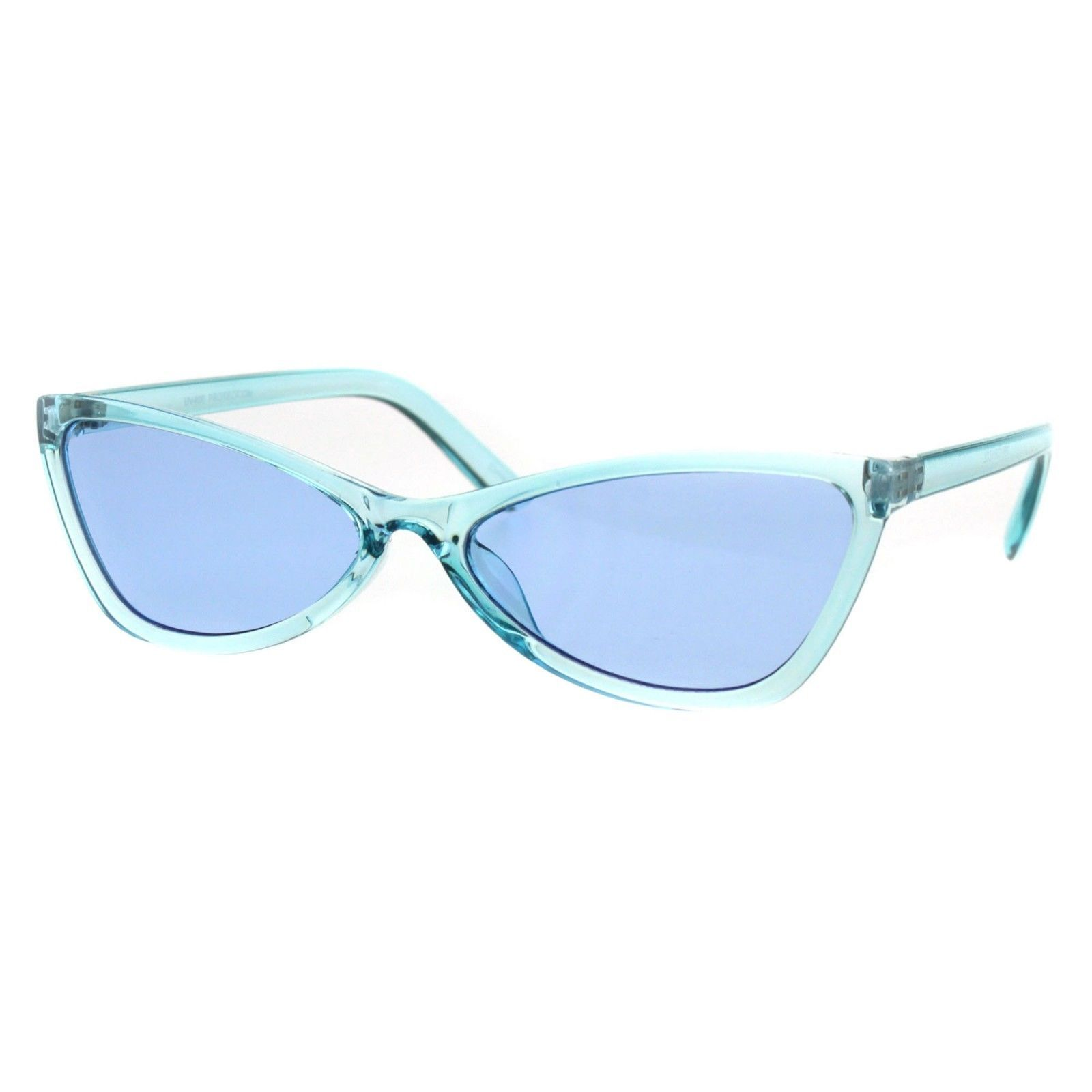 Wide Cateye Butterfly Sunglasses Womens Trendy Translucent Color Frame