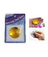 50mm Extra Large Self Adhesive Round Jewels - 2 Pieces (Gold Topaz H107) - $9.89