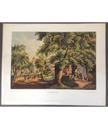 Currier & Ives The Village Blacksmith Lithograph Shorewood Publishers - $24.65