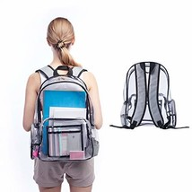 Clear Backpack Heavy Duty Clear Backpacks PVC Transparent School Backpac... - $23.45