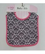Ganz BG3191 Baby Bib Pink Black White Hook Loop Closure - $8.00