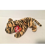 Ty Beanie Babies Plush Beanbag Stripes the Cat Yellow with Black Stripes - $7.78