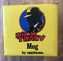 NEW Disney's Dick Tracy LOGO Mug By Applause In Original Box Vintage Never Used - $12.87