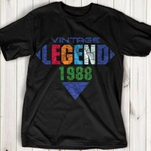 Vintage Men's 30th Birthday In 1988 My Mother Created A Legend T-shirt US - $9.62+